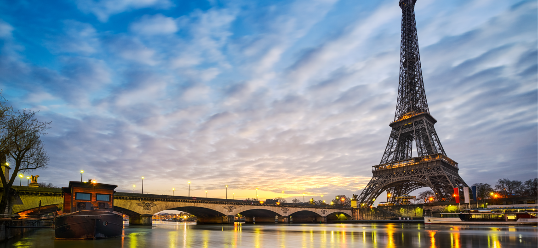 Paris, Eiffel tower, night